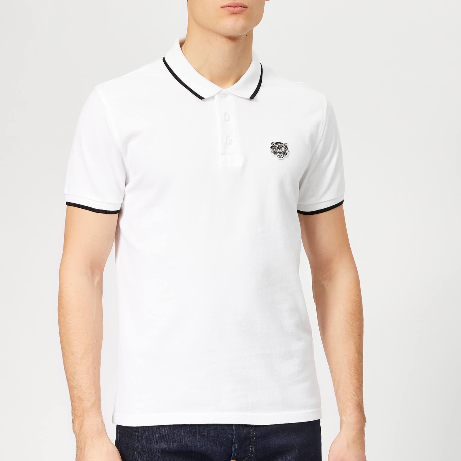 KENZO Men s Tipped Polo Shirt - White - Free UK Delivery over £50 61b558e0b95b