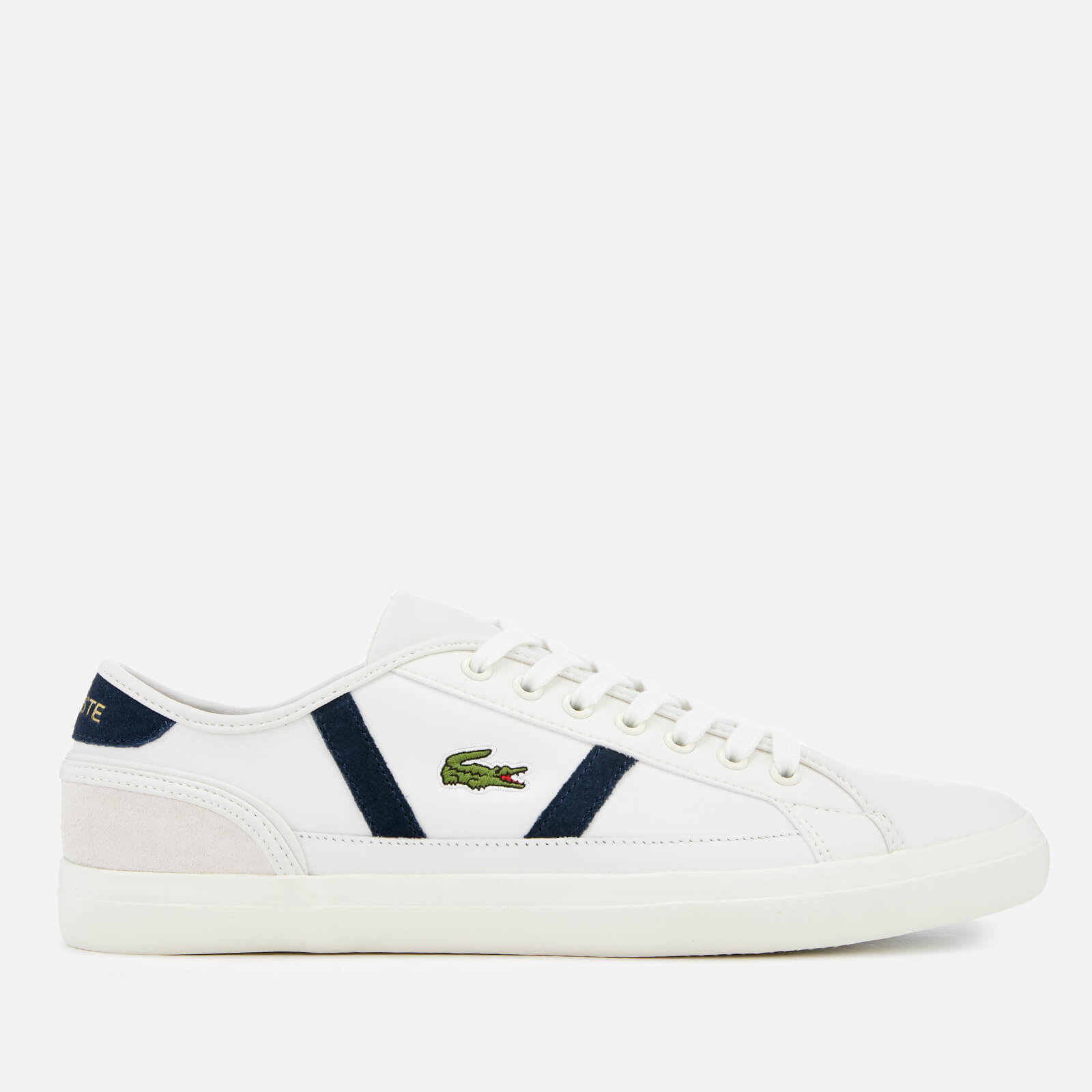 e0df61f88 Lacoste Men s Sideline 119 3 Leather Trainers - Off White Navy ...