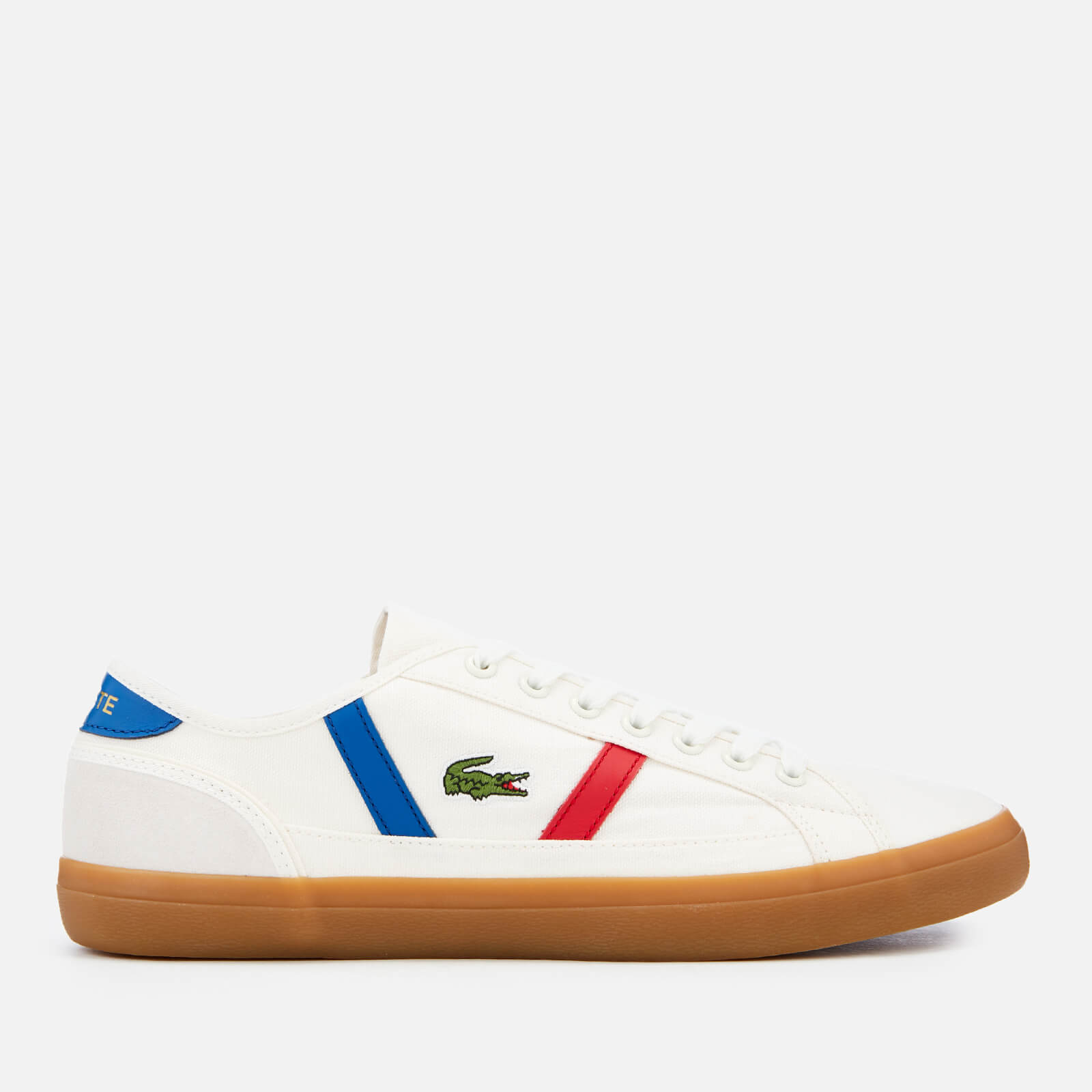 545a56582f89 Lacoste Men s Sideline 119 2 Canvas Trainers - Off White Gum