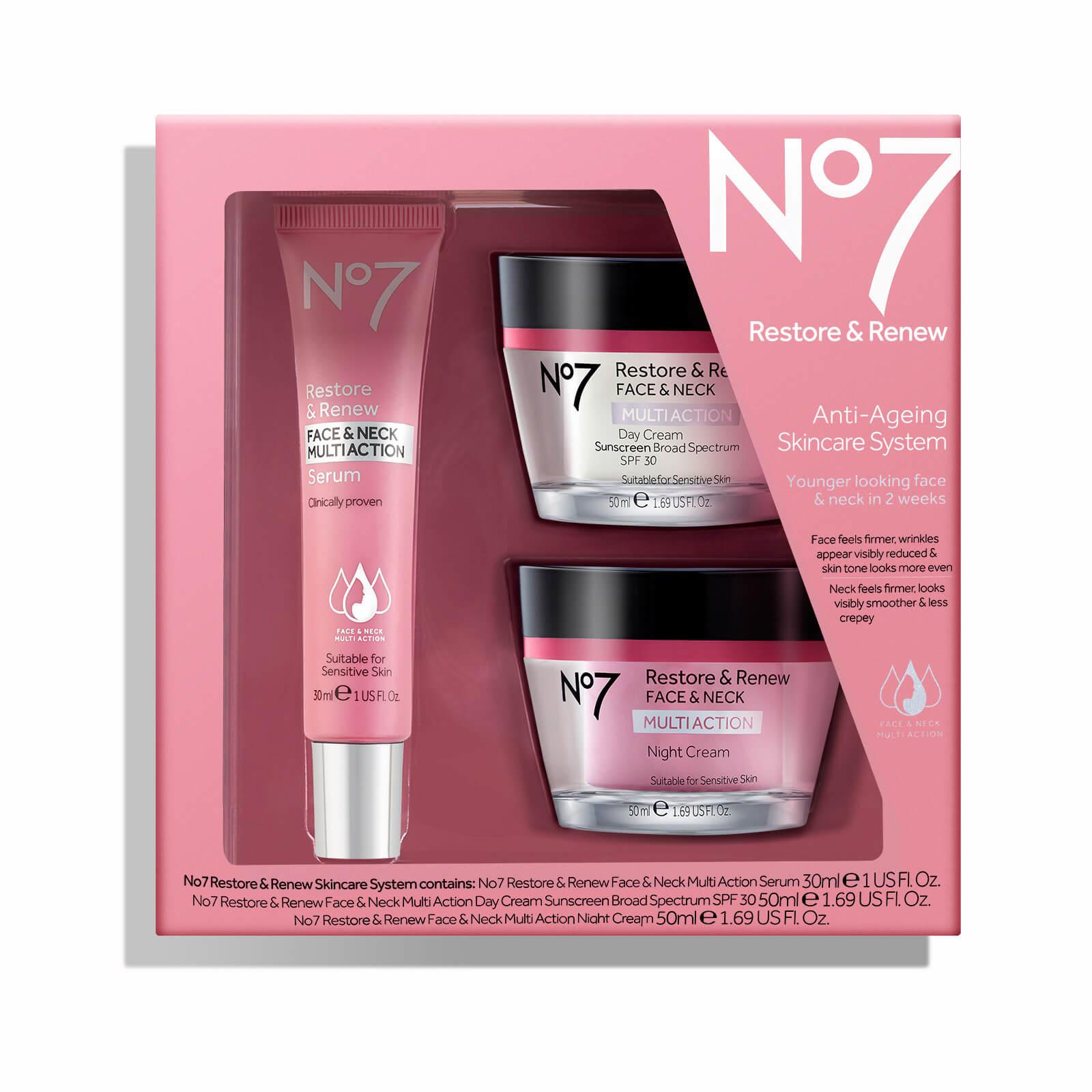No7 Restore & Renew Face & Neck Multi Skincare System Kit