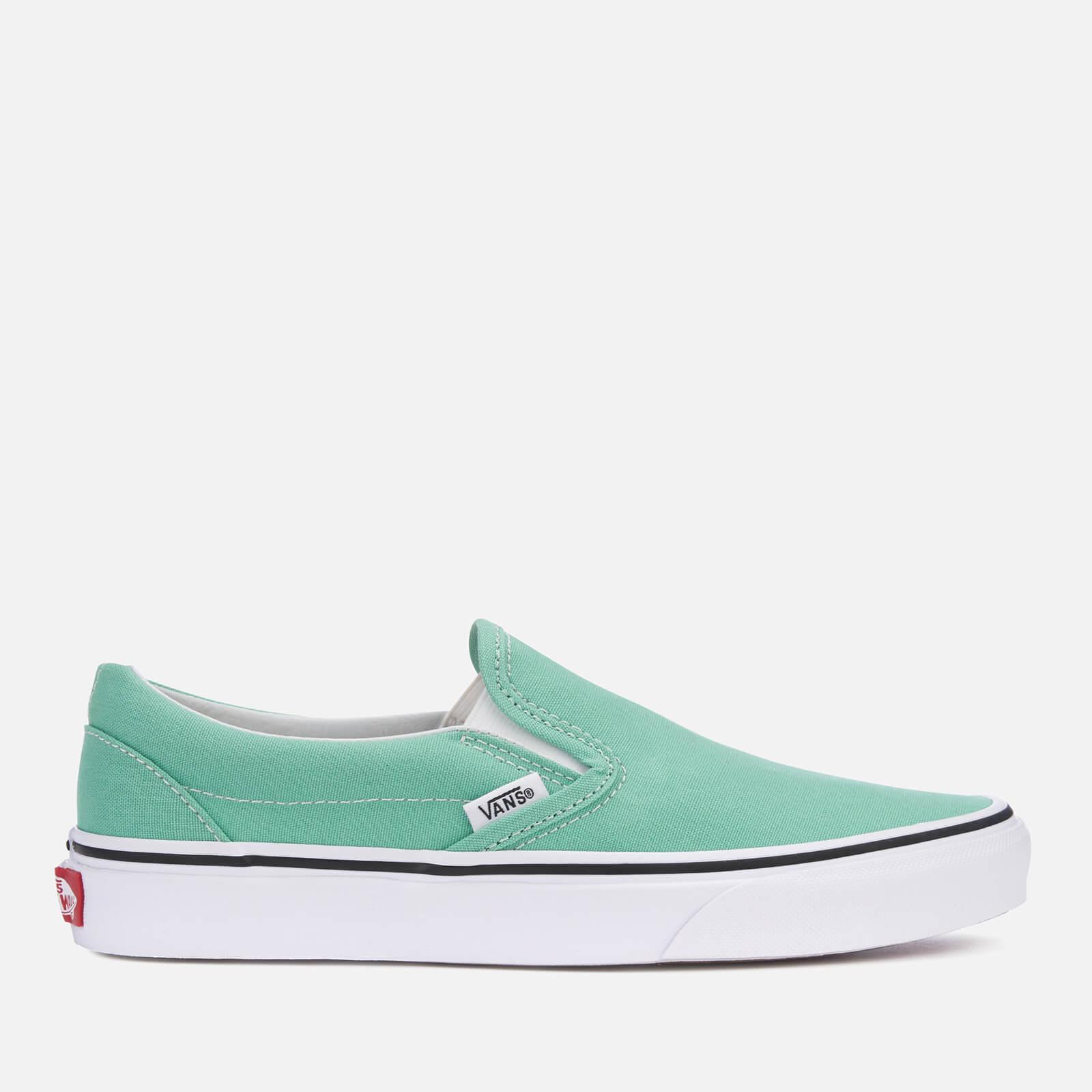 fcb77d33395792 Vans Women s Classic Slip-On Trainers - Neptune Green True White ...