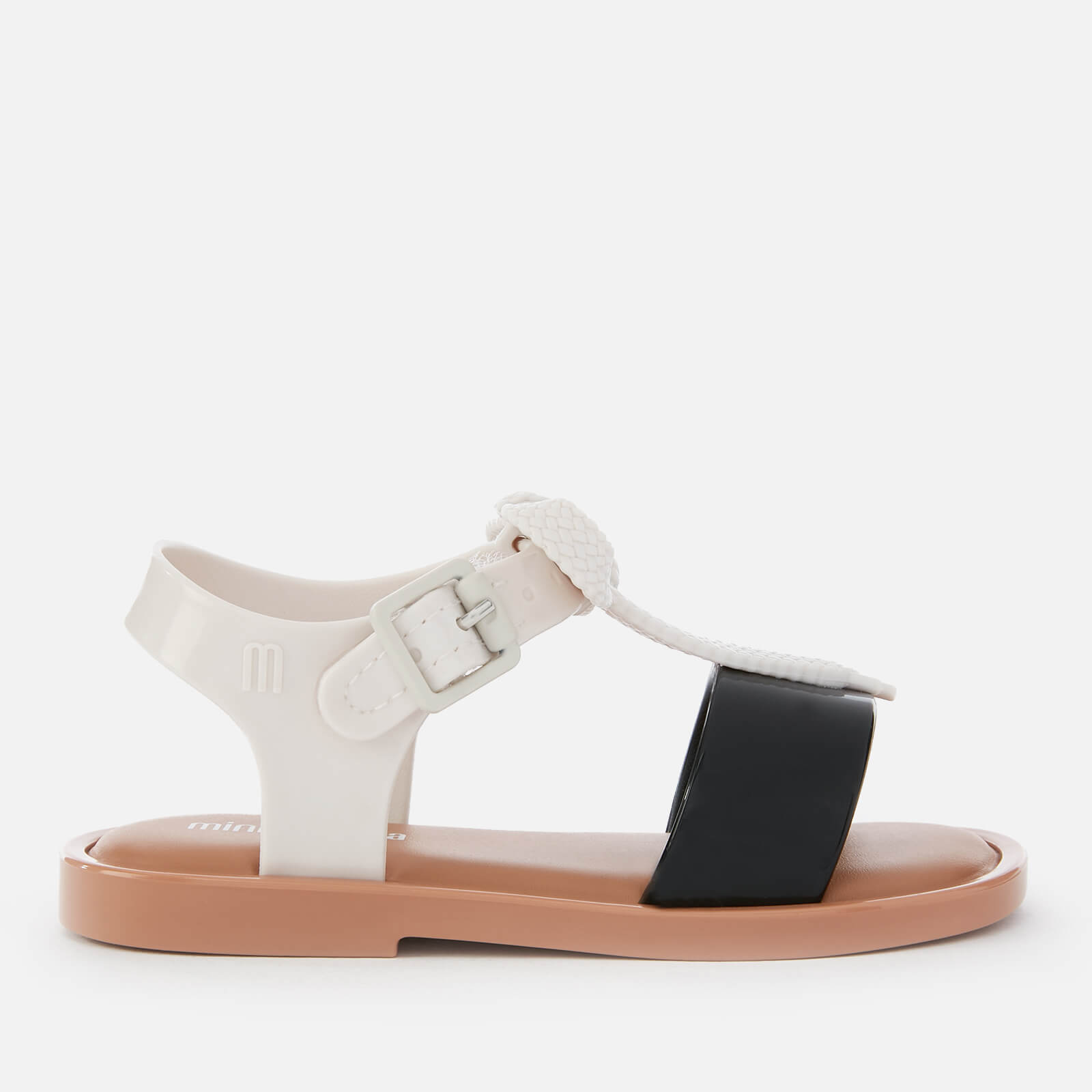 5e8cd5686bf Mini Melissa Toddlers  Mini Mar Lace Sandals - White Contrast