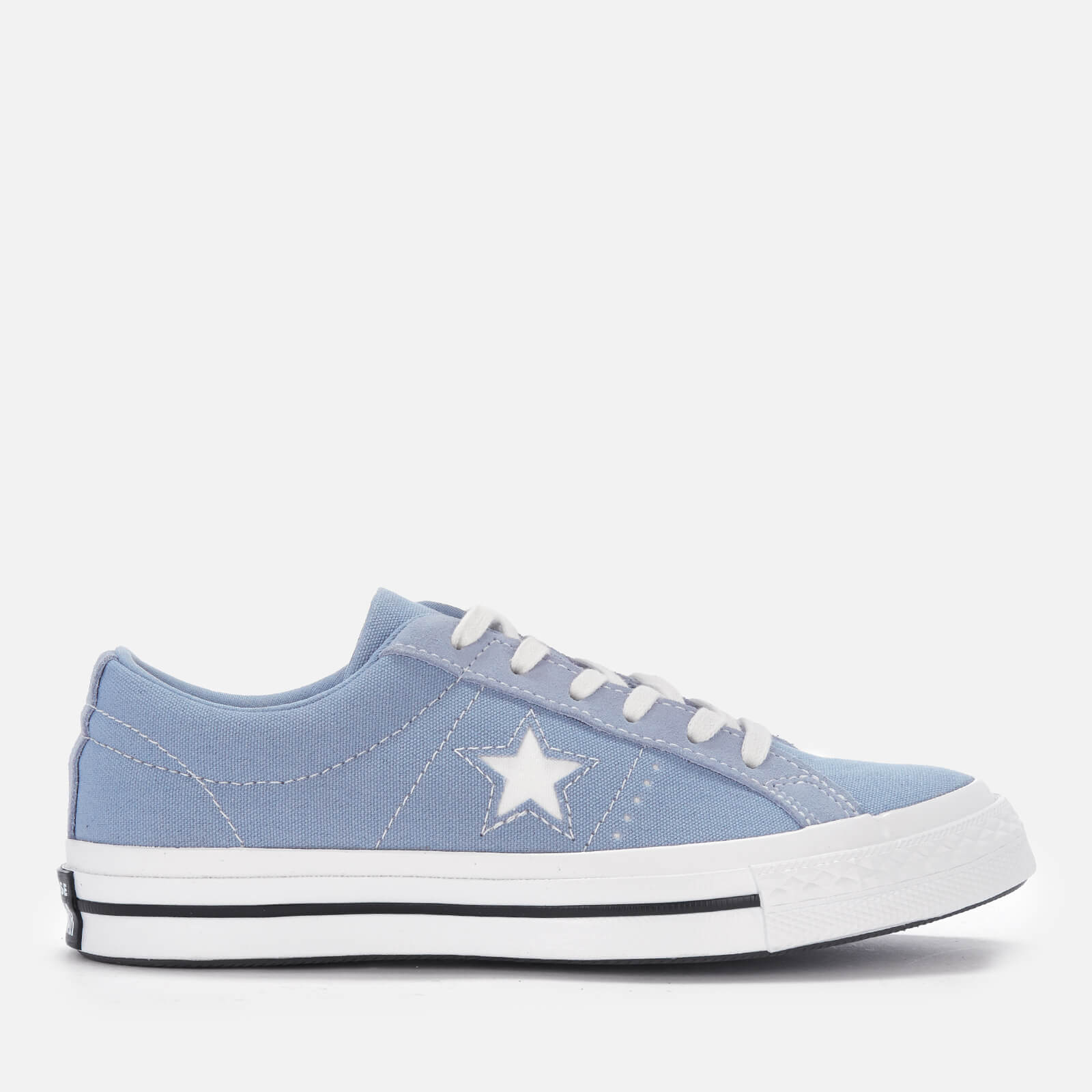 92d02069328d98 Converse Women s One Star Ox Trainers - Indigo Fog White Black ...