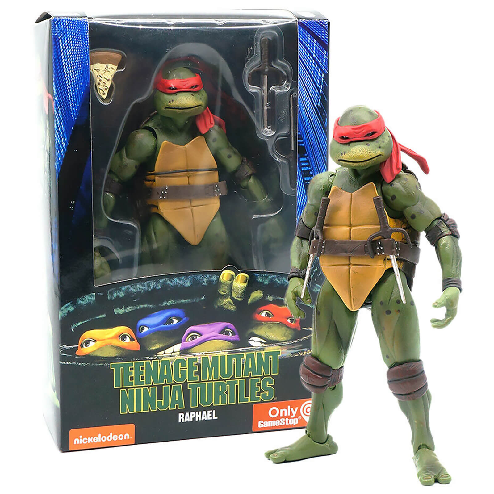 "NECA Teenage Mutant Ninja Turtles 1990 Movie Leonardo 7/"" Action Figure @@"