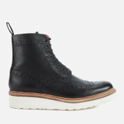 Grenson Men's Fred V Brogue Boots - Black