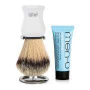 men-ü DB Premier Shave Brush with Chrome Stand - White