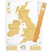 UK Karte zum frei Rubbeln - Scratch Map
