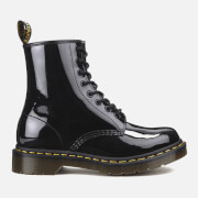 Dr. Martens Women's 1460 W Patent Lamper 8-Eye Lace Up Boots - Black