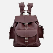 Grafea Women's Wine Medium Leather Backpack - Burgundy