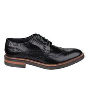 Base London Men's Woburn Brogue Shoes - Black