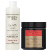 Christophe Robin Regenerating Mask (250ml) and Delicate Volumizing Shampoo with Rose Extracts (250ml) (Worth £81.00)