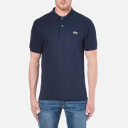 Lacoste Men's Basic Pique Short Sleeve Polo Shirt - Navy