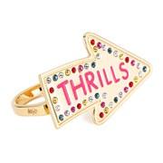 Maria Francesca Pepe Women's Street Neon Thrills Double Finger Ring - Gold