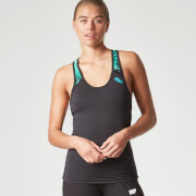 Myprotein Damen Racer Back Scoop Top mit Support - Türkis Graffiti