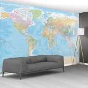 1 Wall World Map Wall Mural