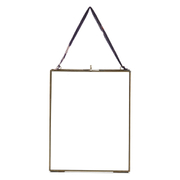 Nkuku Kiko Antique Brass Glass Frame - Portrait 8 x 10""