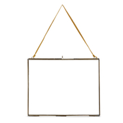 Nkuku Extra Large Kiko Antique Brass Glass Frame - Landscape - 12 x 15""