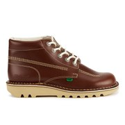 Kickers Men's Kick Hi Leather Boots - Dark Tan