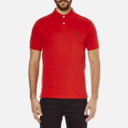Polo Ralph Lauren Men's Custom Fit Short Sleeved Polo Shirt - Red