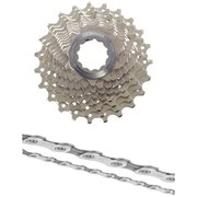 Shimano Ultegra CS-6700 Bicycle Chain and Cassette - 10 Speed Grey 12-30T