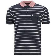 Luke 1977 Men's Albarn Striped Polo Shirt - Navy
