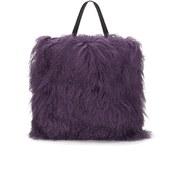 House of Holland Women's Mongolian Fur Tote - Purple