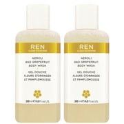 REN Neroli and Grapefruit Body Wash Duo (Worth £32.00) (400ml)