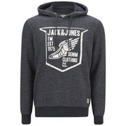 Jack & Jones Men's Originals Paint Sweat Hoody - Dress Blue