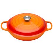 Le Creuset Signature Cast Iron Shallow Casserole Dish - 26cm - Volcanic