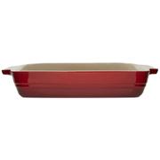Le Creuset Stoneware Shallow Rectangular Dish - 26cm - Cerise