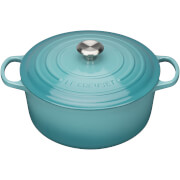 Le Creuset Signature Cast Iron Round Casserole Dish 20cm - Teal