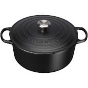 Le Creuset Signature Cast Iron Round Casserole Dish - 20cm - Satin Black