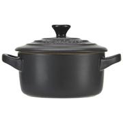 Le Creuset Stoneware Petite Casserole Dish - Satin Black