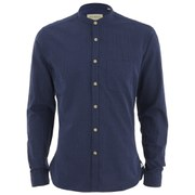 Oliver Spencer Men's Grandad Long Sleeve Shirt - Broadstone Blue