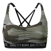 Better Bodies Athlete Short Top - Green camoprint