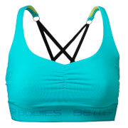 Better Bodies Athlete Short Top - Aqua Blue
