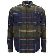 Barbour Heritage Men's Johnny Tartan Long Sleeve Shirt - Moss Green