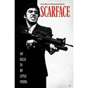 Scarface Say Hello To My Little Friend - 24 x 36 Inches Maxi Poster