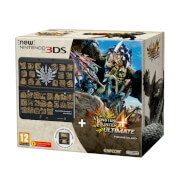 New Nintendo 3DS Black + Monster Hunter 4 Ultimate + Coverplate