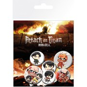 Lot de Badges L'Attaque des Titans - Assortiment