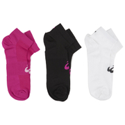Asics 3 Pairs Pack Crew Running Socks - White/Black/Grey