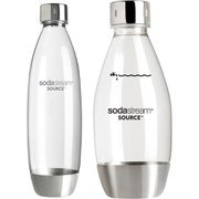 SodaStream Metal Fuse Bottle Twin Pack (1L & 500ml)