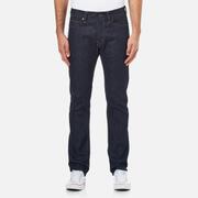 Edwin Men's ED75 Mid Rise Tapered Unwashed Denim Jeans - Dark Blue