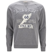 Tokyo Laundry Men's Track and Field Sweatshirt - Mid Grey Marl