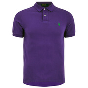 Polo Shirt Ralph Lauren Men's Short Sleeve Slim Fit Polo Shirt - Vista Purple