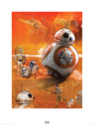 Star Wars The Force Awakens BB-8 Zavvi Exclusive Print