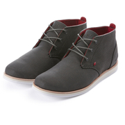 Boxfresh Men's Dalston Waxed Canvas Chukka Boots - Charcoal/Red
