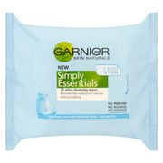 Garnier Vitamin Enriched Cleansing Wipes (25 Pack)
