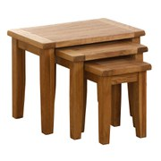 Vancouver Oak NB012 Nest of Tables (Set of 3)