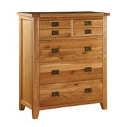 Vancouver Oak VXB002 Five Drawer Chest
